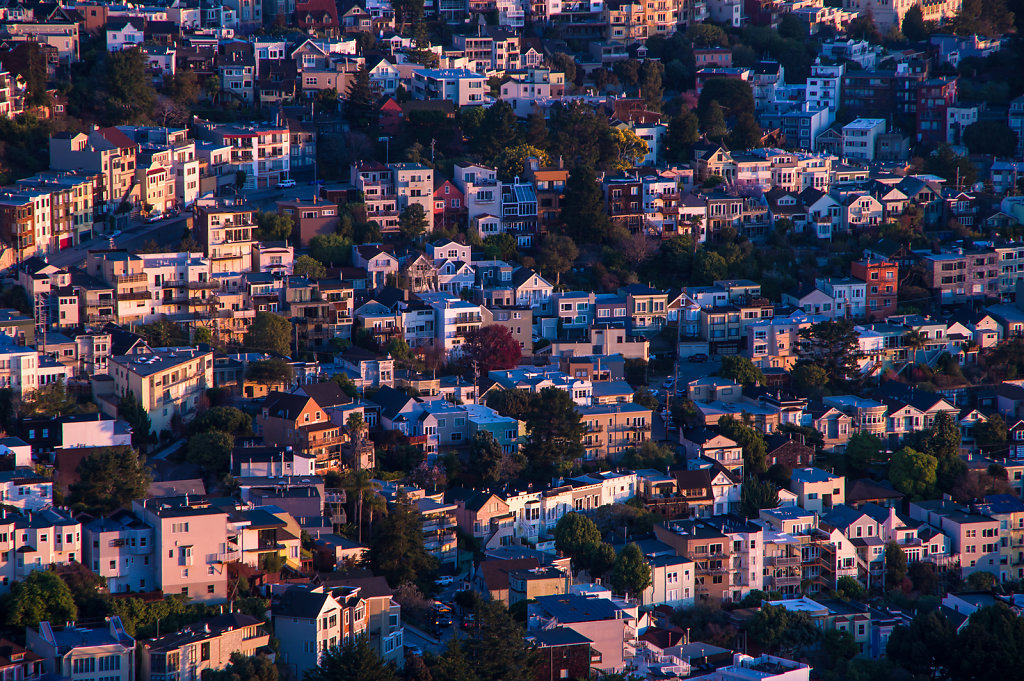 San Francisco, Eureka Valley as seen from Twin Peaks