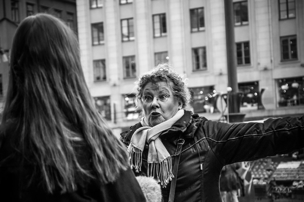 Citizen interview at Hötorget, Stockholm