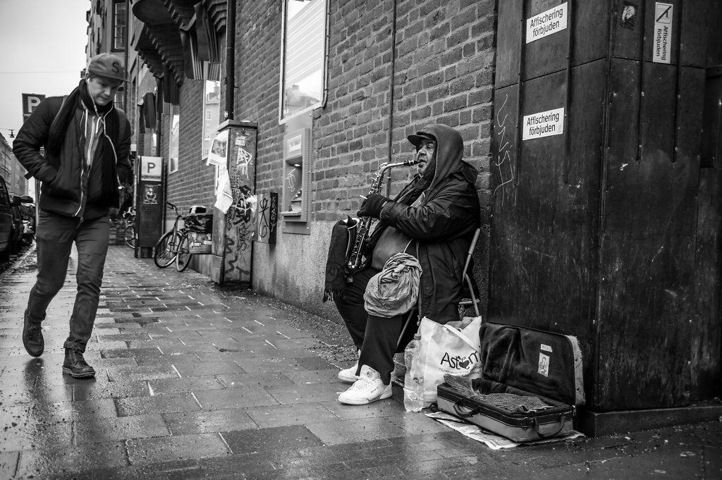 Street musician, Rörstrandsgatan, Stockholm