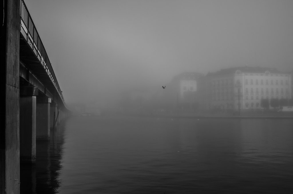 Old Town, Stockholm, in morning mist