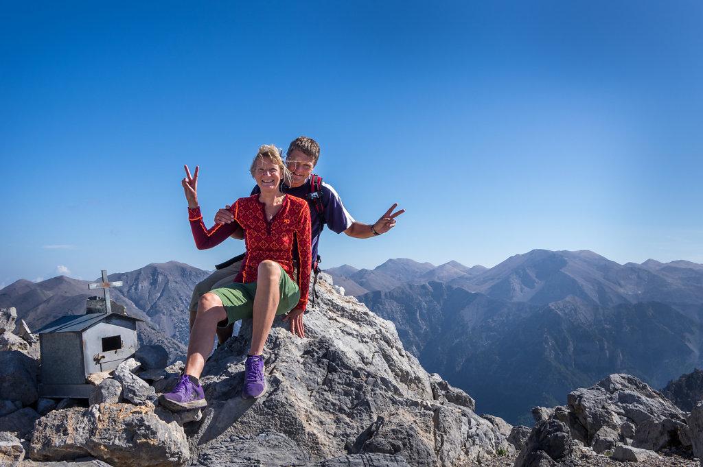 Toppen av Mt Gigilos, 2 000 m ö h